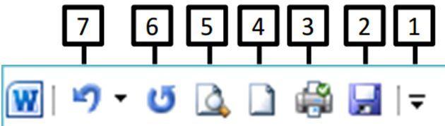 Ofis Programları Çalışma Soruları (MS Word) - Hızlı Erişim Araç Çubuğu