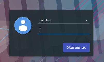 Pardus Kullanıcı Giriş Ekranı