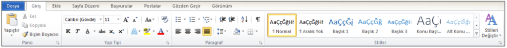 Word Şerit Uygulaması