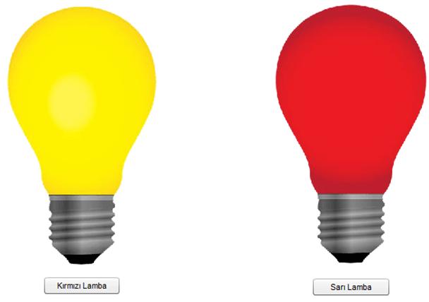 Buton ile Lamba Renk Değiştirme